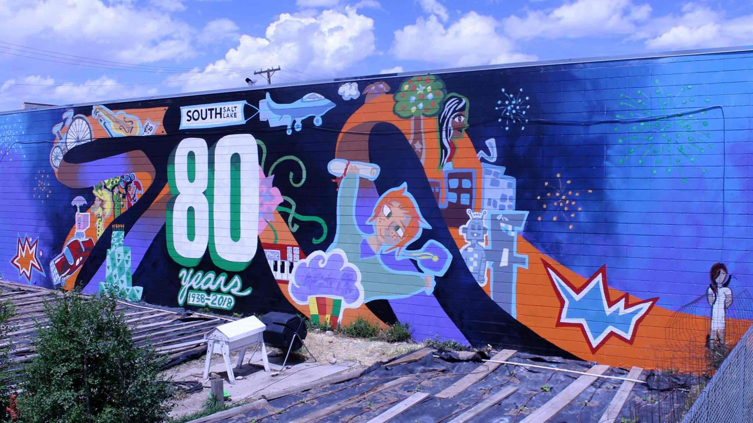 SSL 80th Anniversary Mural